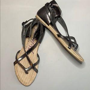 Blowfish pewter color sandals size 8